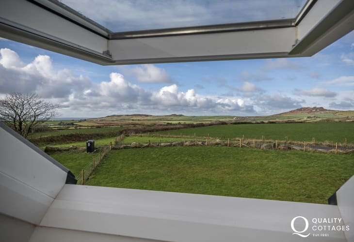 Views from the master bedroom to Strumble Head and the coast