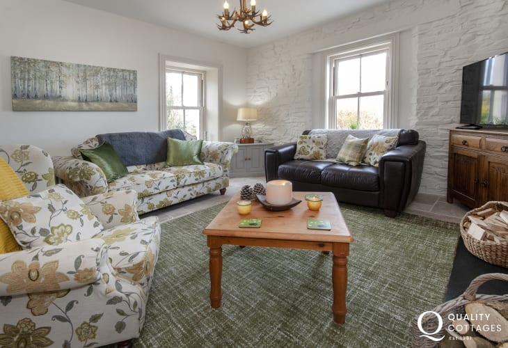 Cosy Pembrokeshire cottage sitting room