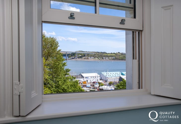 Views over the Cleddau River from the master bedroom