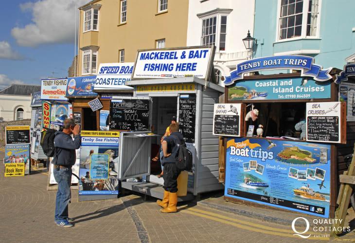Tenby's Harbour for Caldey Island, Mackerel fishing