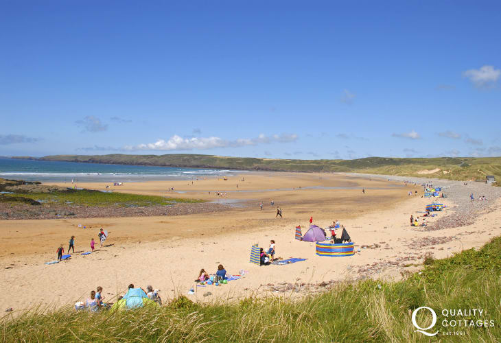 Freshwater West - one of Pembrokeshire's best surfing beaches