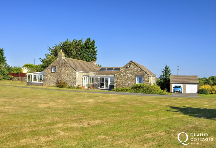 Solva spacious barn conversion with large lawn gardens - sorry no pets