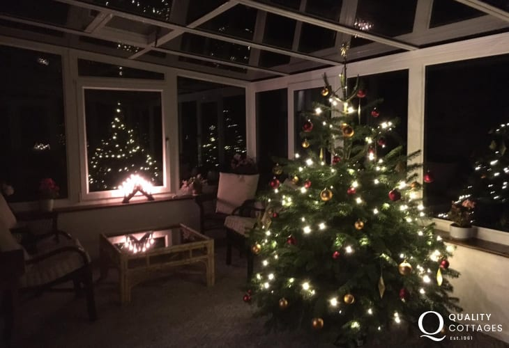 Christmas at Gwar Y Coed holiday cottage