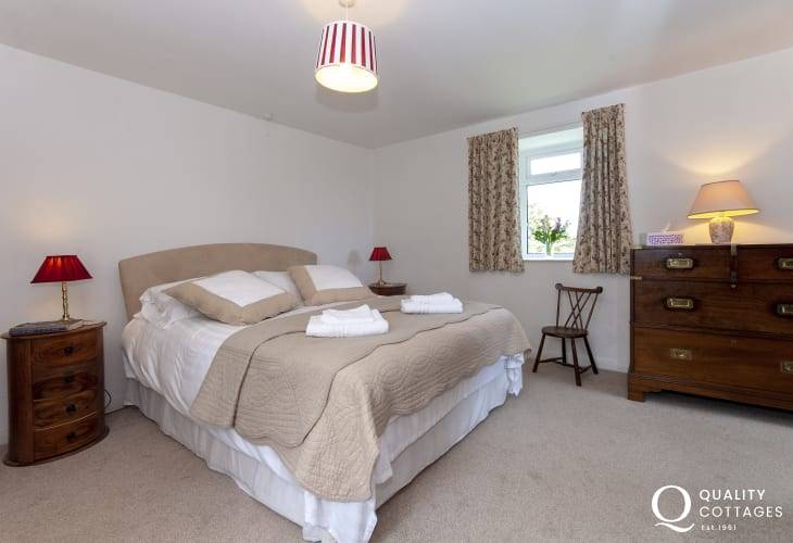 St Davids family holiday home - king size master bedroom