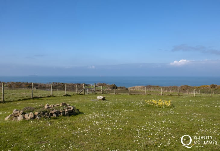 Panoramic views over St Brides Bay