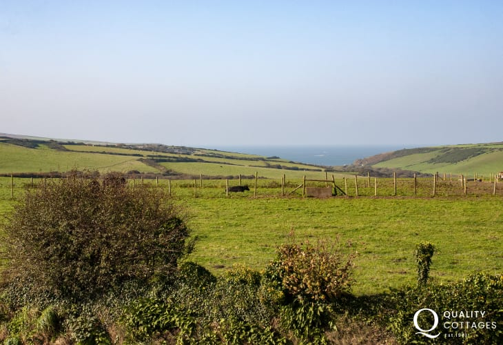 Enjoy views over the fields to Abereiddy and the sea