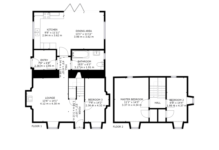 Welsh cottage holiday floor plan