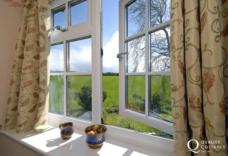 Views over gardens and surrounding countryside