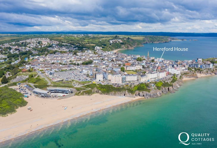Ideally situated in the heart of Tenby, South Beach just steps away