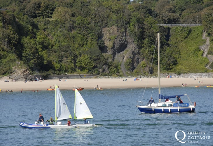Tenby Water Sports offer jet ski hire, sea kayaking, wind surfing, and dingy sailing