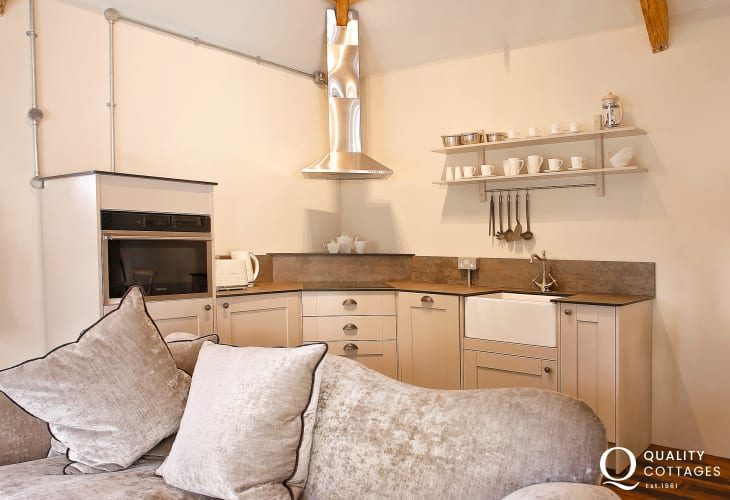 Gileston on the Heritage Coast for a holiday - kitchen lounge area