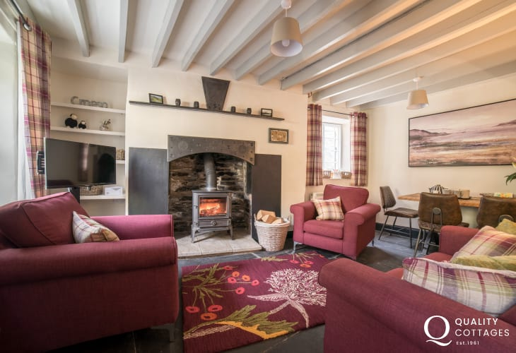 Machynlleth holiday cottage - lounge
