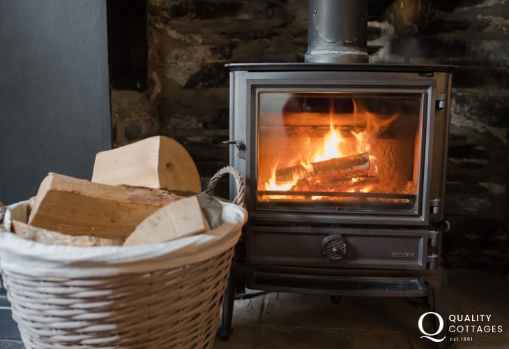 Machynlleth holiday cottage - wood-burner