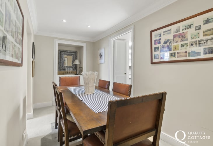 Holiday home in New Quay - Dining Roomcharacterful room in the heart of the house, large dining room table, seating for 6