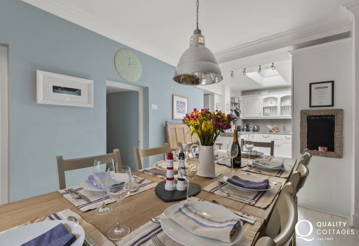 Cardiganshire cottage holiday - Dining area attractive dining table with seating for 8