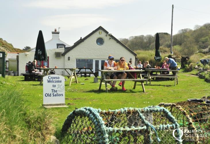 Try The Old Sailors Inn at Pwllgwaelod for a sundowner after long coastal walks