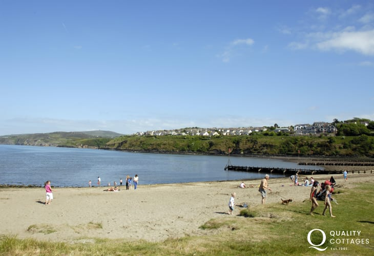 Parrog Beach, Goodwick is a sheltered sandy foreshore