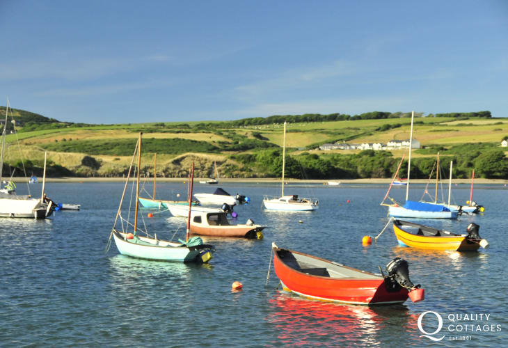 Newport with dog friendly beaches and  a popular boating area in the summer