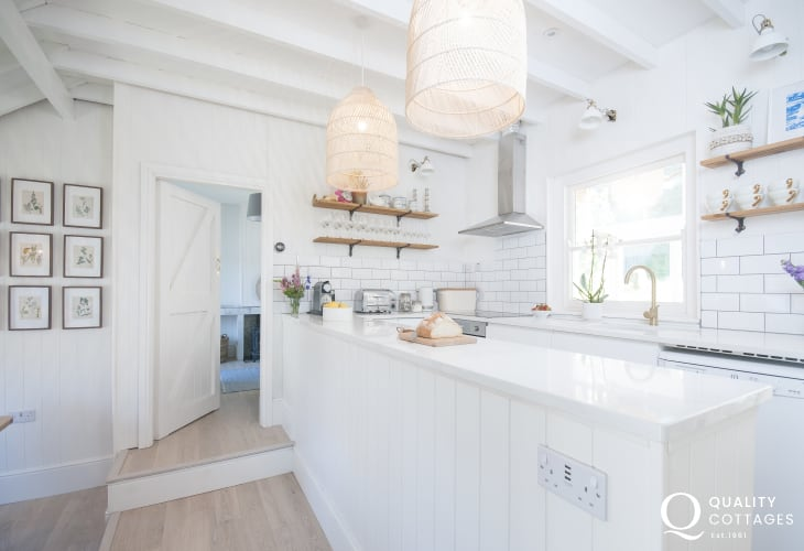 Self catering Dale family home - Scandinavian style open plan kitchen/diner