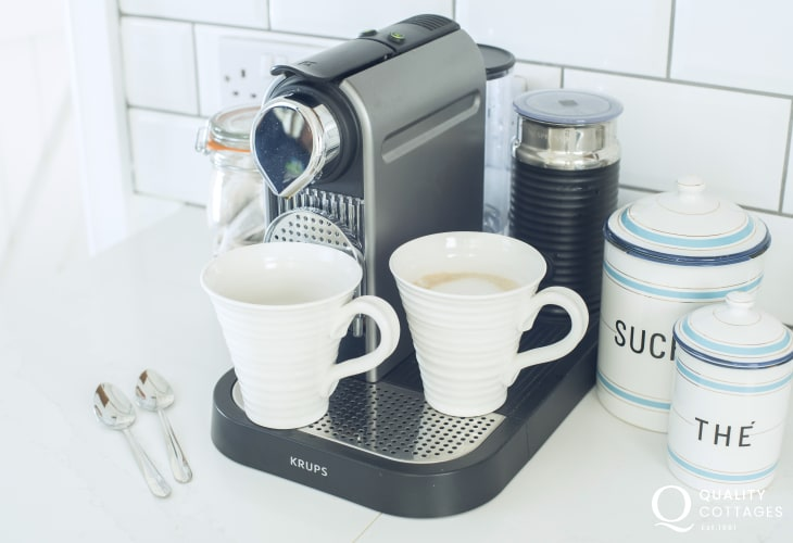 Self catering Dale family home - coffee machine