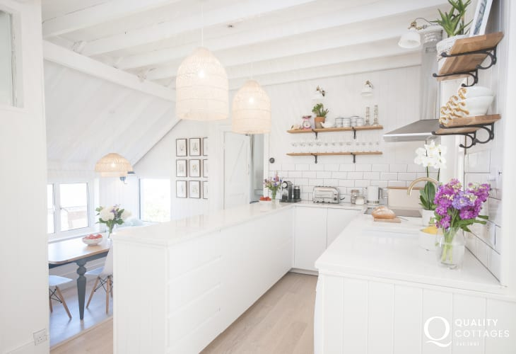 Self catering Dale family home - Scandinavian style open plan kitchen