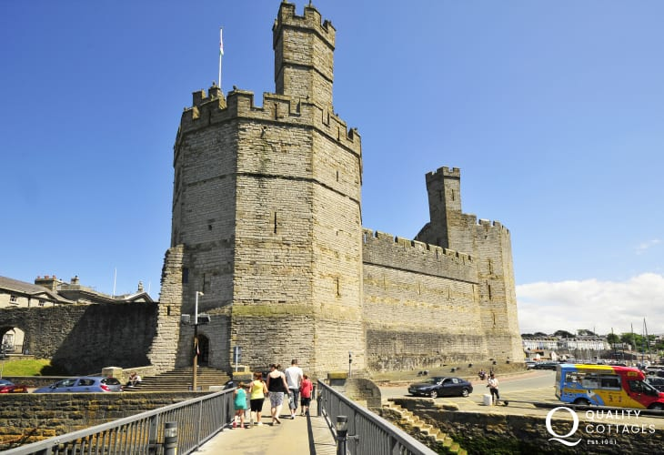 Caernarfon Castle and Victoria Dock