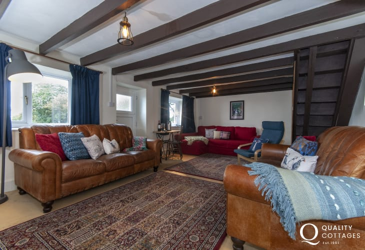 Pet friendly holiday cottage near Abercastle - spacious living room