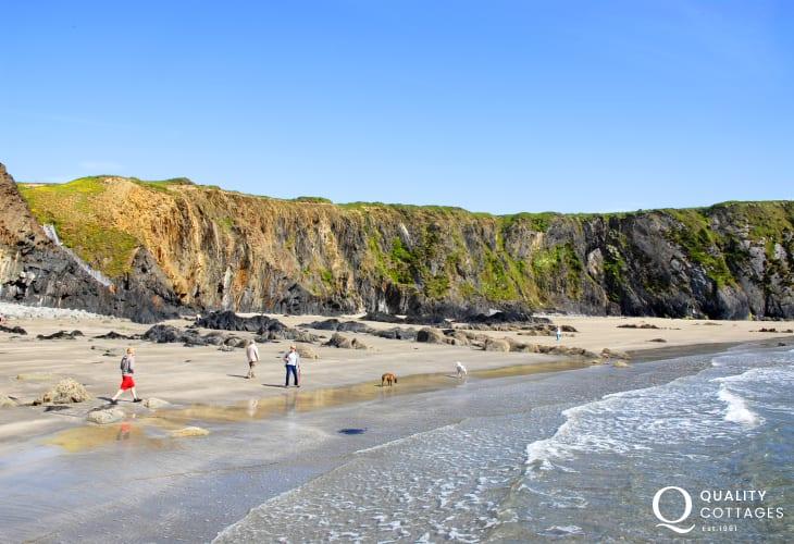 Traeth Llyfn Beach - a wide expanse of sand