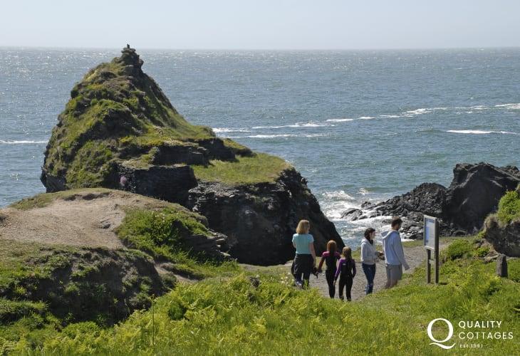On the Pembrokeshire Coast Path at Abereiddy