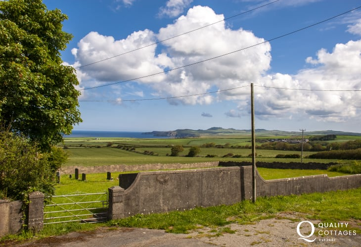 Views to Strumble Head from the twin and double bedrooms