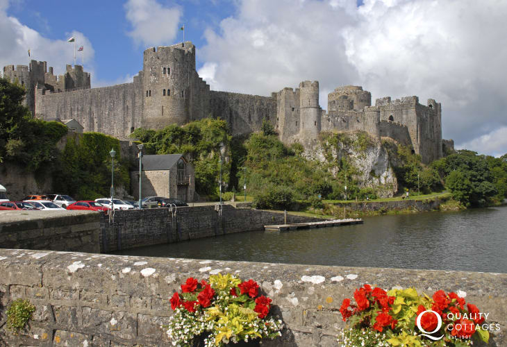 Pembroke is a medieval walled town with Norman castle