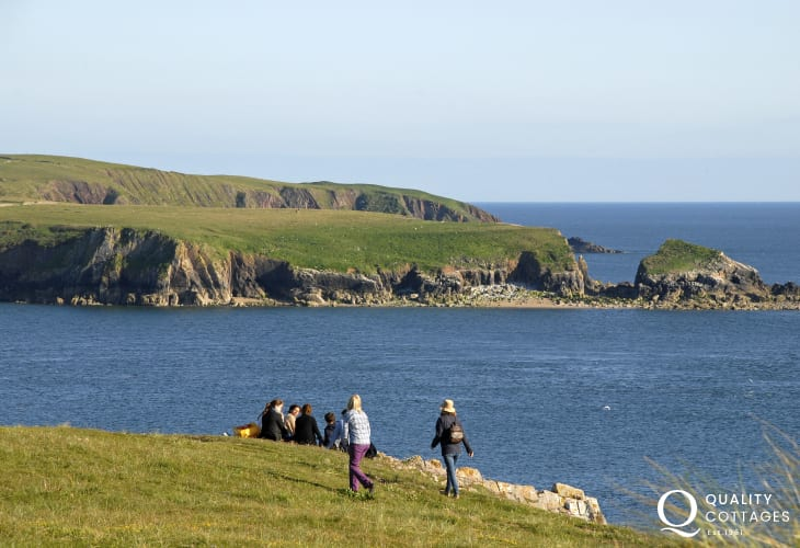 Pembrokeshire coast path stretches for 186 miles