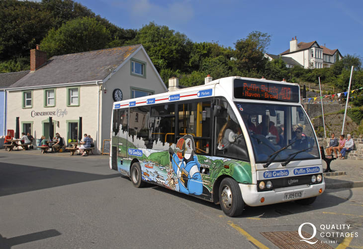 Leave your car behind and catch the 'Puffin Shuttle' or St Brides Bay Water Taxi in Solva - great for coastal walkers