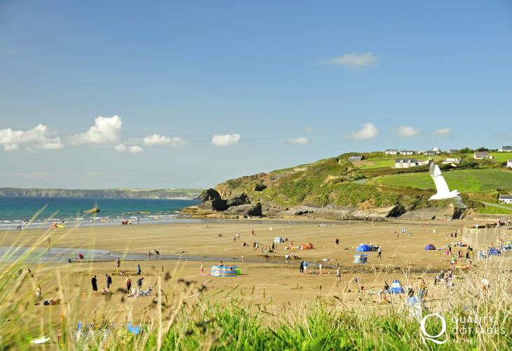 Walk to Broad Haven beach along the Pembrokeshire Coast Path