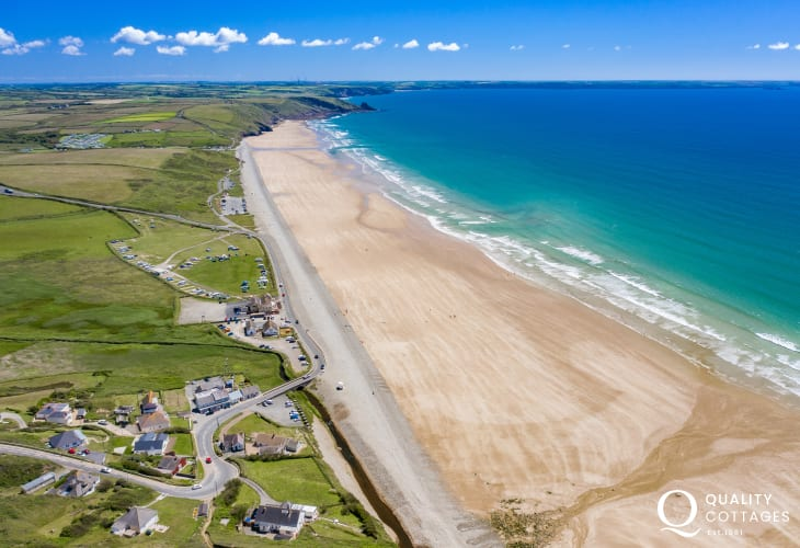 Newgale Sands - 2 miles of golden 'Blue Flag' beach very popular with water sport enthusiasts