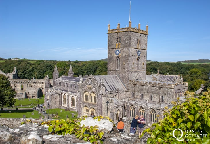 St Davids, Britains smallest city, with its magnificent 12th century cathedral which hosts international musical festivals throughout the year