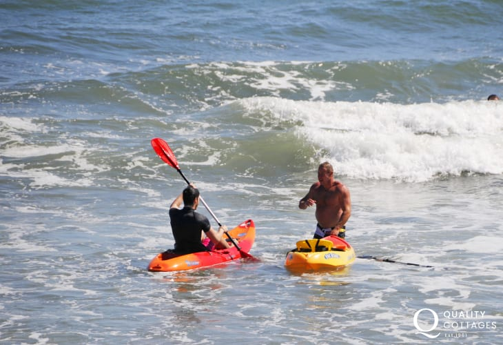Hire wet suits, surf boards or kayaks from 'Haven Sports' in Broad Haven