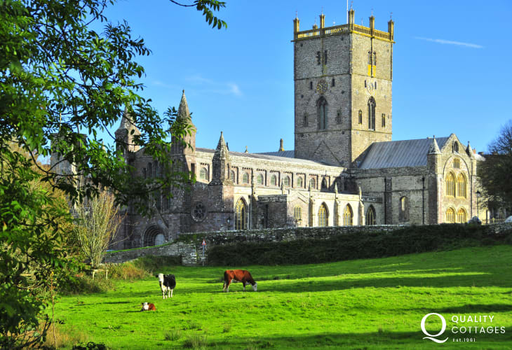Magnificent St Davids Cathedral is built on the site of a monastery founded by St David the Patron Saint of Wales