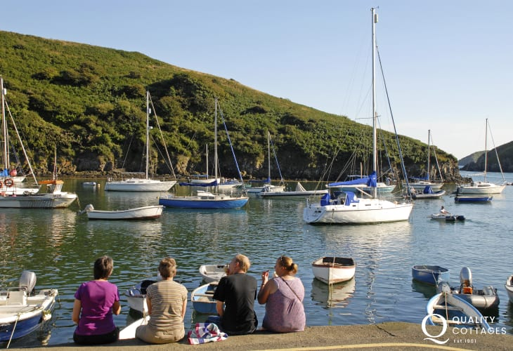 Solva Harbour - Lovely spot to chill and watch boats of all shapes and sizes
