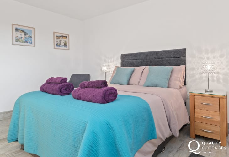 Master bedroom with Double bed and spacious storage