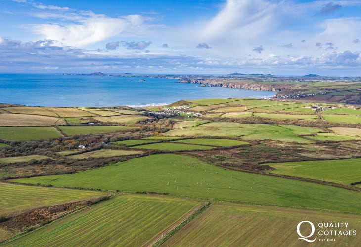 Pembrokeshire countryside and offering the most beautiful