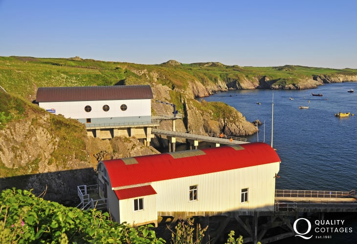 St Justinians is just one of the coastal stops made by Solva Water Taxi service
