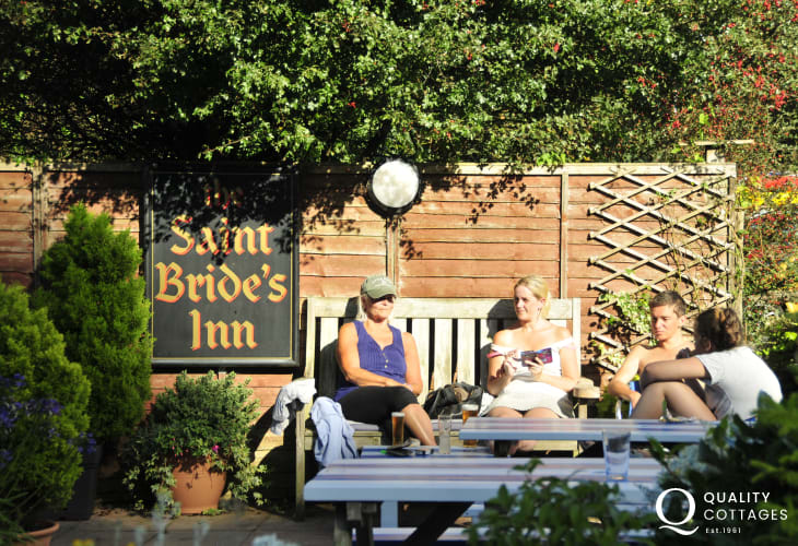 St Brides Inn - the perfect beer garden for a sun downer!