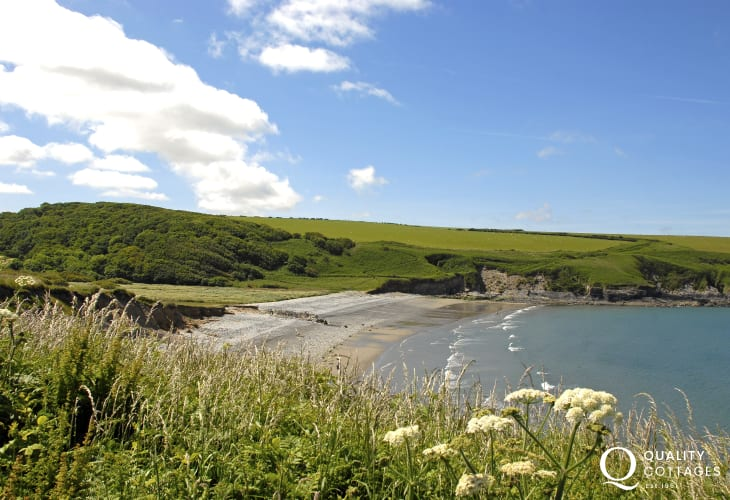 Aberbach and Abermawr (National Trust) are pebble beaches