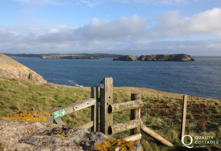 The Pembrokeshire Coast path is nearby
