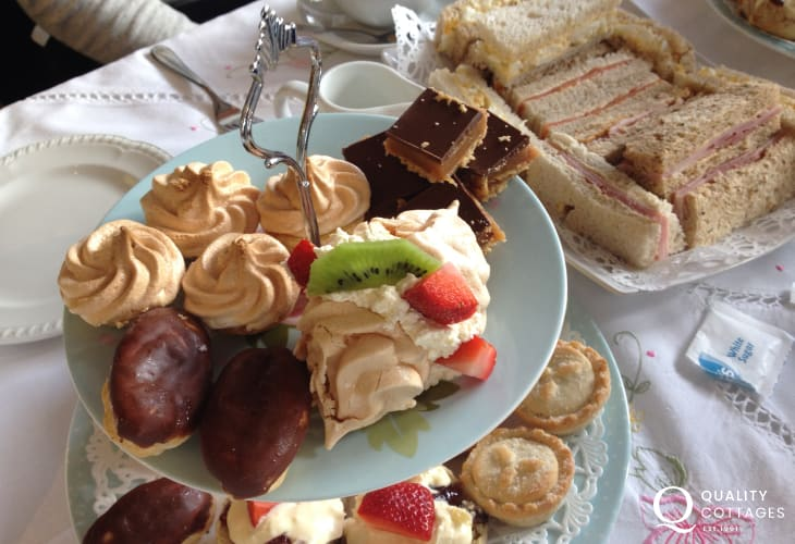 Beach Break Tea Rooms in Manorbier for delicious afternoon teas