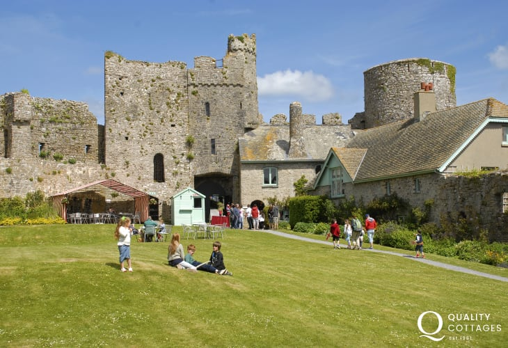12th century Manorbier Castle