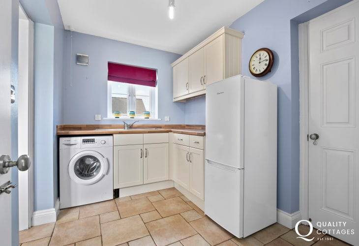 Wonderful beaches for a holiday in Pembrokeshire - utility room