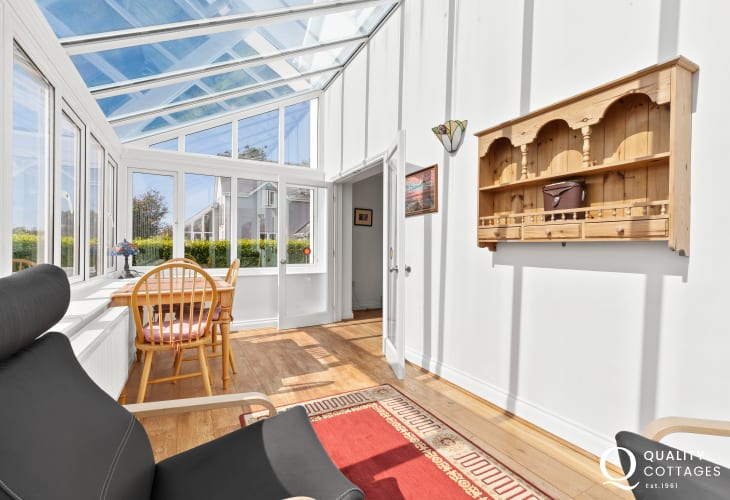 Welsh cottage holiday in Pembrokeshire Tenby sunroom