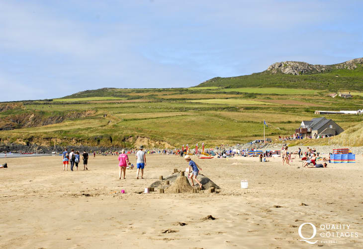 Whitesands, Blue Flag is one of the best beaches in Pembrokeshire